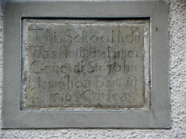 Plaque, Corlea Schoolhouse