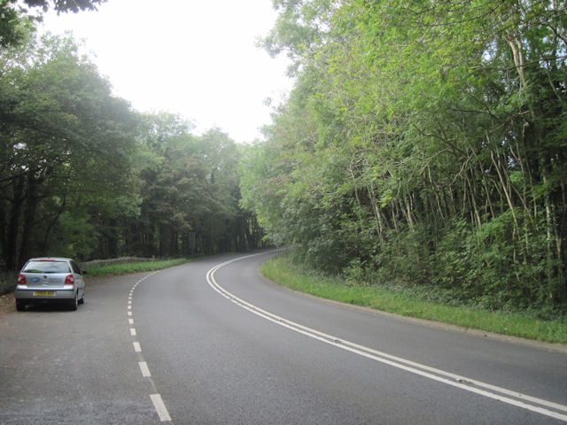 Lay by and A487 just west of Penmorfa