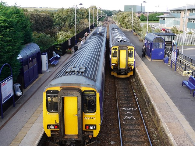 Trains at Prudhoe Station
