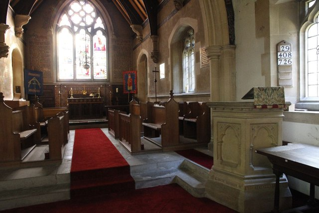 Choir stalls and pulpit