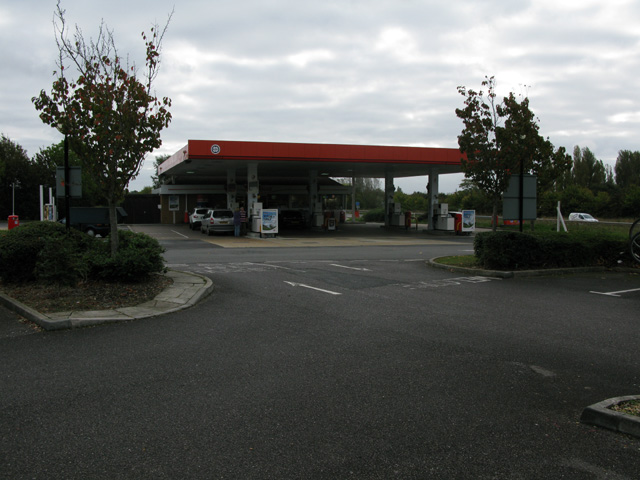 Petrol station on eastbound side of the A27 near Emsworth
