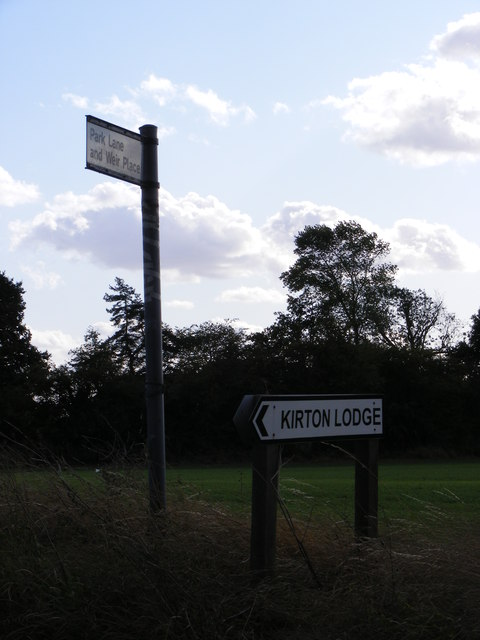 Roadsigns on Bucklesham Road