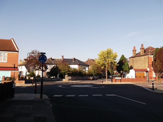 Roundabout on Faygate Road, Tulse Hill