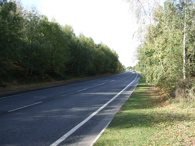 A628 towards Barnsley