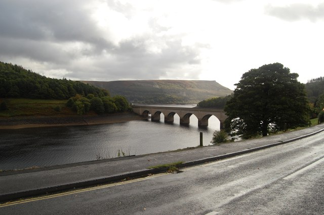 Ashopton Viaduct and Ladybower Reservoir