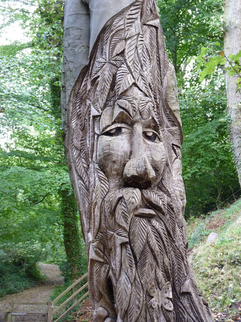 Wood carving in Golden Valley, Wick, Bristol