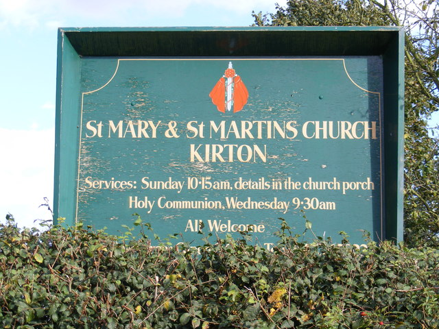 Tower of St.Mary & St.Martin Church sign