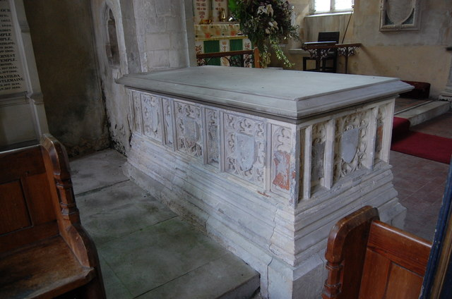 Tomb of Sir Reginald Sondes, Throwley Church