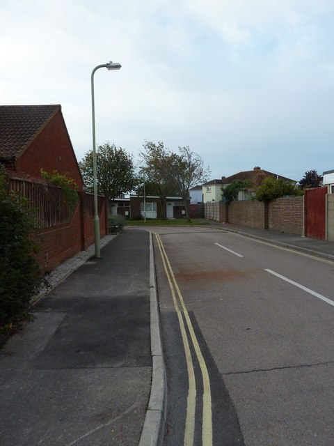 Looking from Avery Lane into Behrendt Close