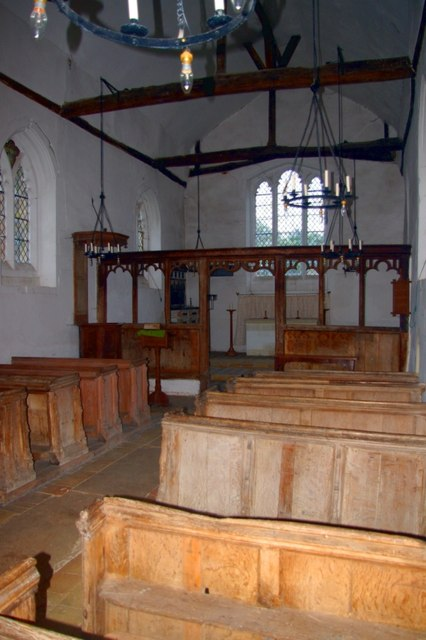 Interior of St Mary's Church, Lower Gravenhurst