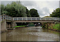 SJ6475 : Canal footbridge at Anderton, Cheshire by Roger  Kidd