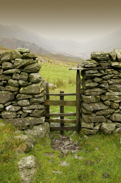 Wall and gate, Troutbeck Valley