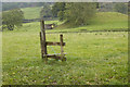 NY4205 : Redundant stile at Hagg Bridge by Tom Richardson