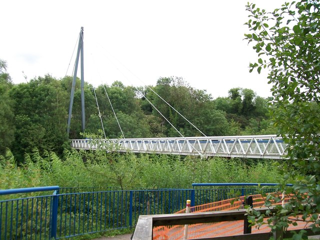 Bridge across the Boyne at the Newgrange Interpretation Centre