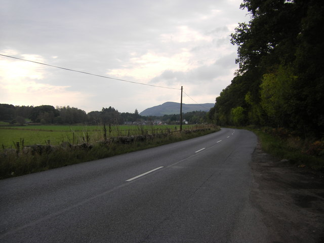 A827 heading towards Grandtully
