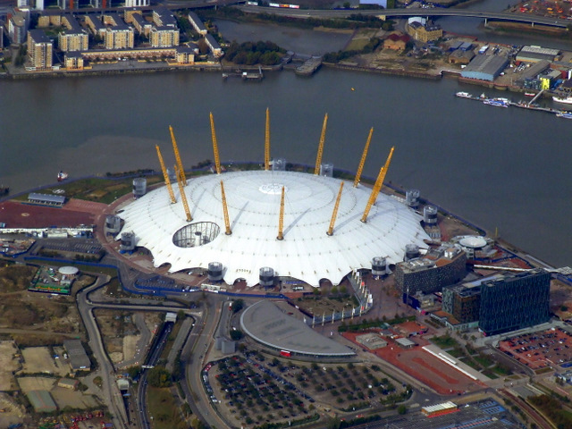 The Millennium Dome from the air