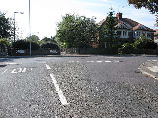 Junction of Gladstone Road with Ramsgate Road