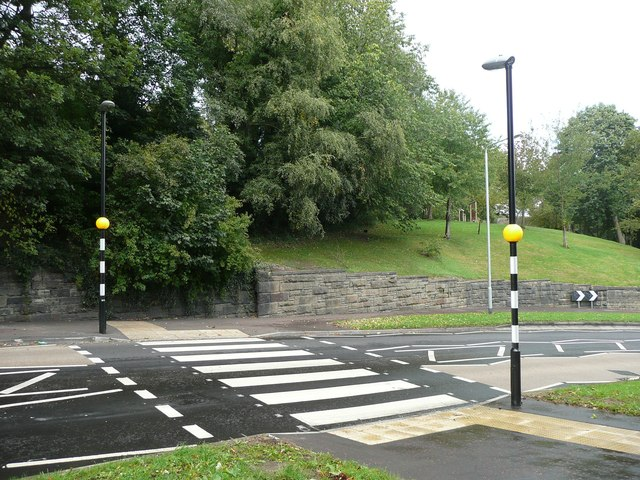 Zebra crossing, Rochdale Road, Greetland