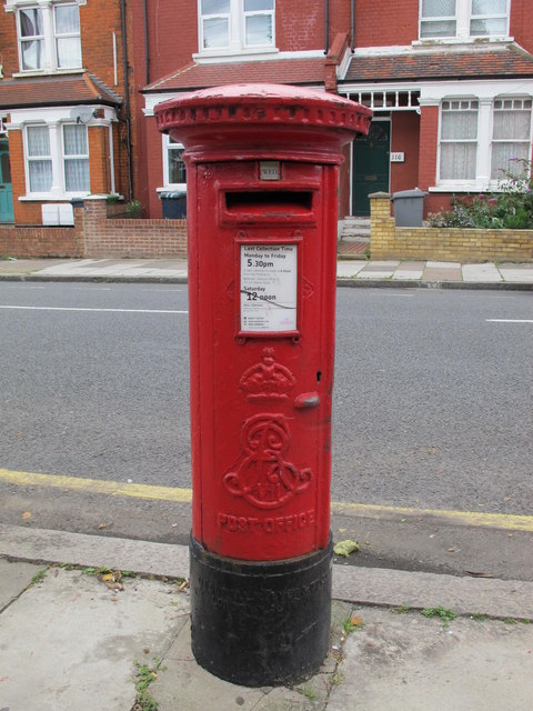 Edward VII postbox, Harlesden Road / King's Road, NW10