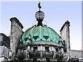 TQ2980 : Dome, globe and verdigris - Trafalgar Square by Mick Lobb