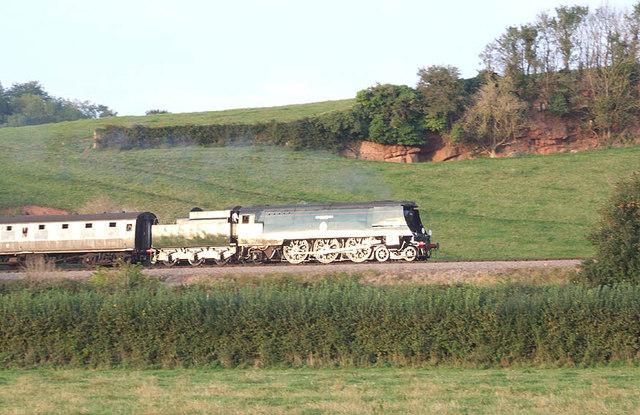 """34070 """"Manston"""" near Woolston farm"""