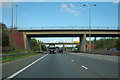 TL1494 : A1(M) - roundabout bridges at junction 17 by Robin Webster