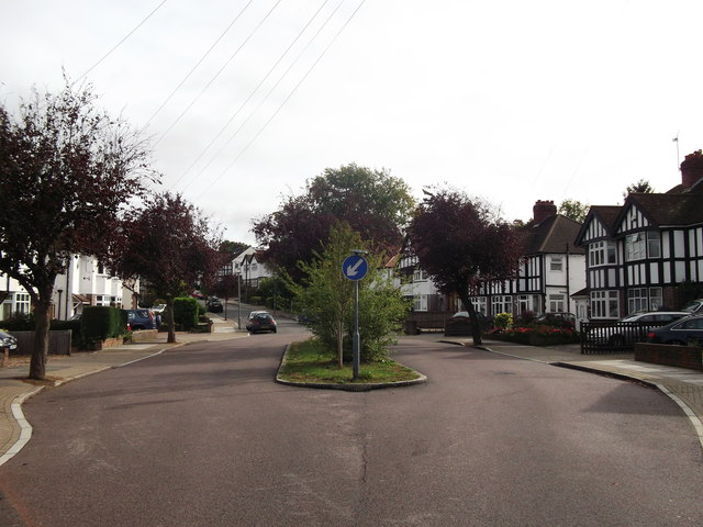Road island on Beverley Road