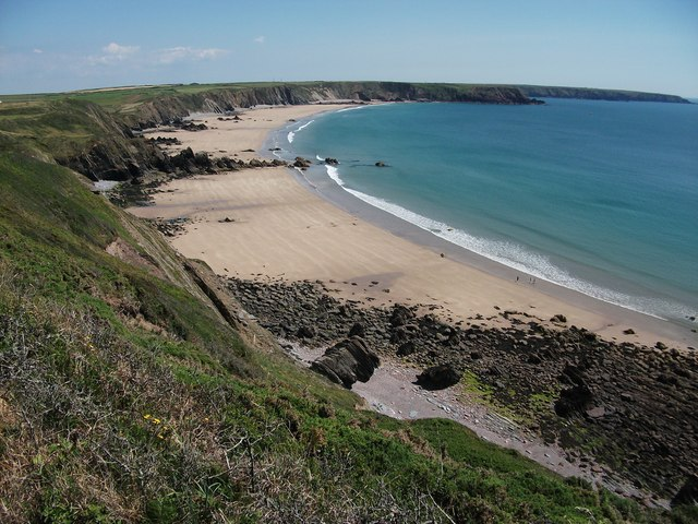 Marloes sands in summer