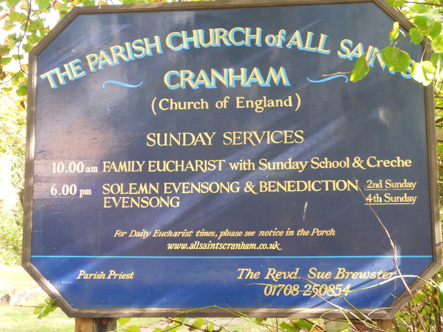 All Saints Church Sign Cranham