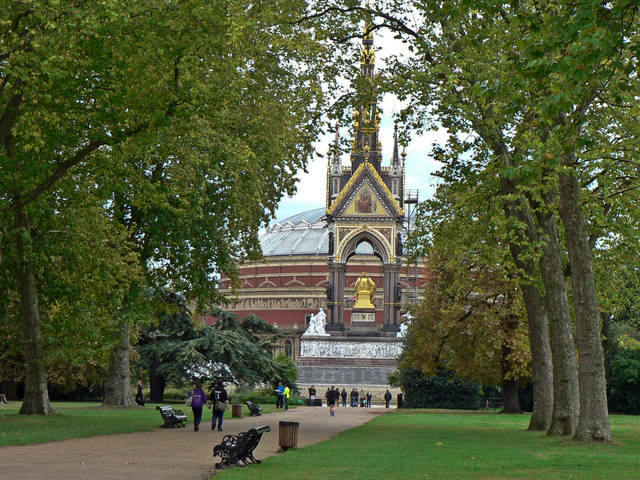 The Albert Memorial and Royal Albert Hall - London