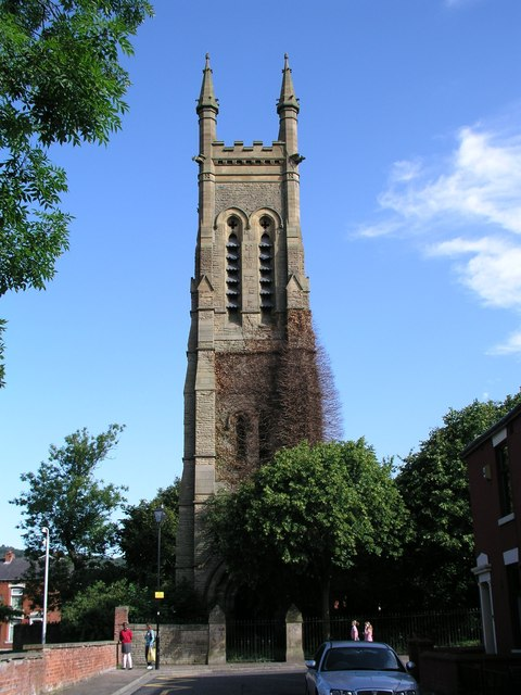 St Philips church steeple Blackburn