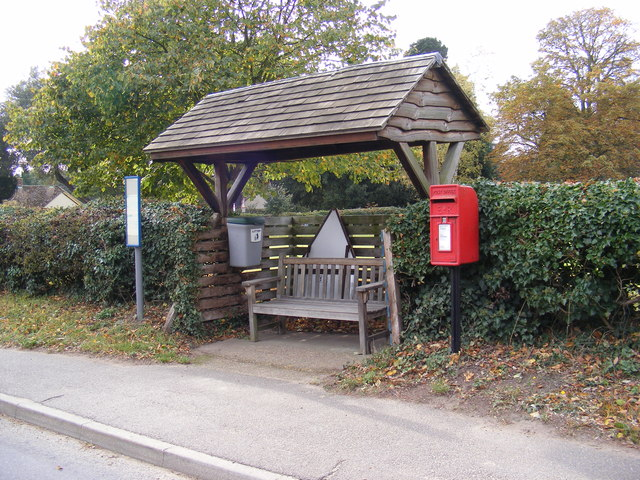 Bus Shelter & Anchor House The Street Postbox