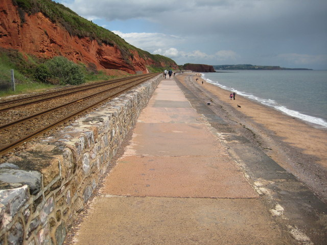 Coast path, Dawlish sea wall