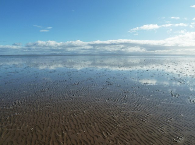 Low tide on the Mersehead Sands