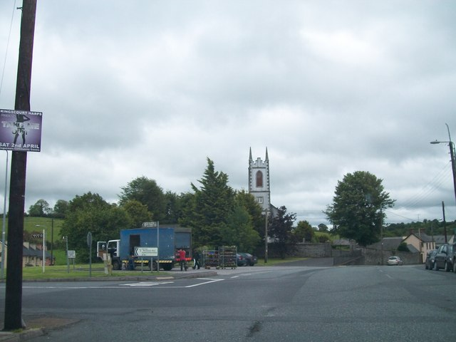 The R162 and R178 crossroads near the Shercock Parish Church