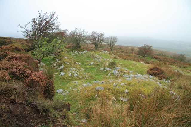 Remains of building near the Stiperstones