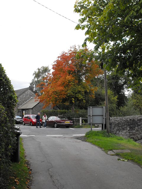 The bottom of Bridge Street, Clun