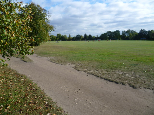 Football pitches on Clapham Common