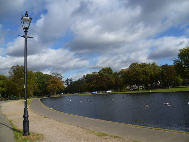 Lamp post next to the Long Pond
