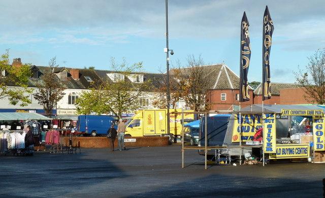 Market square, Shirebrook