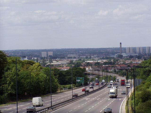 North Circular Road A406 through Walthamstow