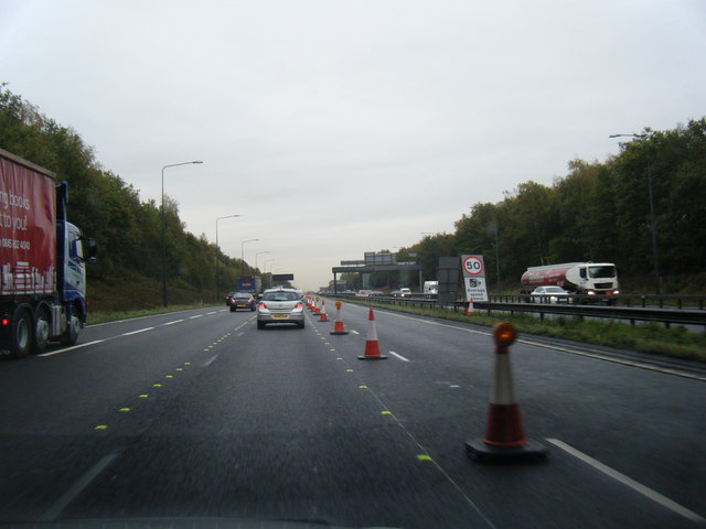 M62 eastbound near Birchwood