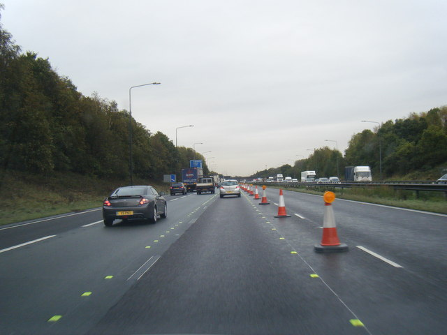 M62 approaching Junction 11