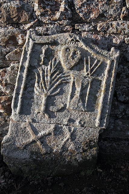 A gravestone at Stenton churchyard
