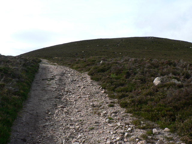 Rocky hill track with path to summit of Kerloch