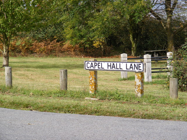 Capel Hall Lane sign