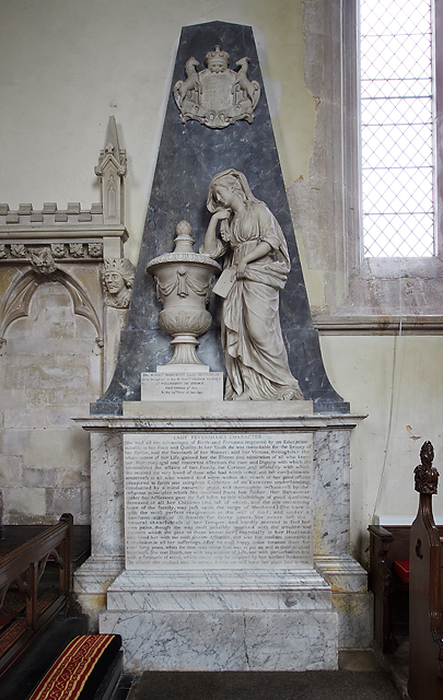 Monument to Margaret, Lady Feversham - St Laurence's church, Downton
