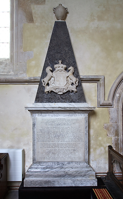 Monument to Frances, Lady Feversham - St Laurence's church, Downton