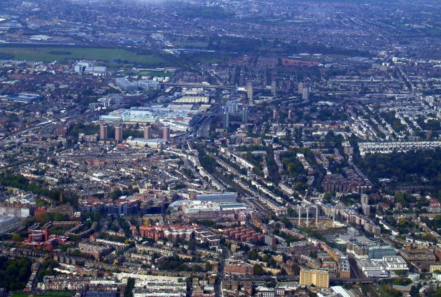 West Kensington from the air