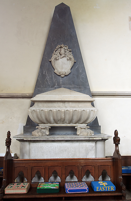 Monument to George Duncombe - St Laurence's church, Downton